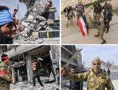 """صور.. مرتزقة """"أردوغان"""" يحرقون العلم السورى فى عفرين.. مليشيا """"الخليفة العثمانى"""" يدمرون مواقع أثرية ومسيحية ويهدمون تمثالا كرديا تاريخيا.. وقنابل الطائرات التركية تقصف المنازل وتجبر المدنيين على الفرار"""