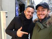صور.. كواليس لقاء سعد لمجرد مع أحمد فريد فى باريس