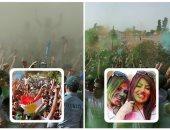 انطلاق مهرجان الألوان فى مدينة أربيل بإقليم كردستان العراق