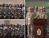 فيديو..3 زيارات للسيسى إلى سيناء.. الأولى يوليو 2015 مرتديا الزى العسكرى لتفقد القوات.. والثانية فبراير الماضى لافتتاح مقر مكافحة الإرهاب.. الرئيس من إحدى القواعد الجوية: سنحتفل قريبا بالانتصار على خوارج العصر