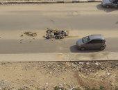 صورة.. بلاعة مفتوحة وسط طريق الخمسين فى زهراء المعادى تنذر بوقوع حوادث