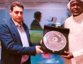 تبادل الدروع بين الاتحاد المصري والسعودي في ودية الاولبمبي