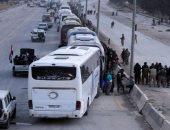 """انتهاء عملية إخراج مسلحى """"جيش الإسلام"""" وعوائلهم من الضمير فى ريف دمشق"""