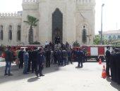 وصول جثماين شهيدى الإسكندرية وتوافد المعزيين لبدء مراسم الجنازة العسكرية