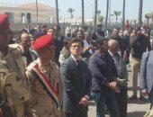 مدير  أمن الإسكندرية يتلقى العزاء فى  شهيدى الحادث الإرهابى