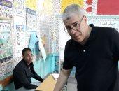 صور.. شوبير يدلى بصوته فى الانتخابات الرئاسية