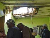 صور.. تضرر منزل يقيم فيه مصريين بالسعودية جراء شظايا الصواريخ الحوثية