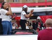 فيديو.. احتفالات الناخبين أمام اللجان الانتخابية بمدينة نصر