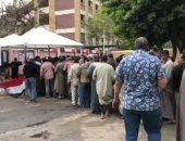 فيديو.. زحام أمام اللجان الانتخابية فى مدينة بدر