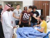 """أحمد الشيخ وحسين السيد يشاركان الاتفاق فى حملة """"لا بأس عليك"""" لزيارة المرضى"""