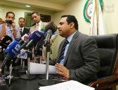 بدء المؤتمر الصحفى للبرلمان العربى حول متابعة الانتخابات الرئاسية - صور