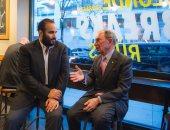 """صور.. ولى العهد السعودى يلتقى مع مؤسس وكالة """"بلومبيرج"""" بنيويورك"""