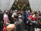 توافد أعضاء الوفد بالمحافظات على المقر الرئيسى بالدقى لانتخاب رئيس الحزب