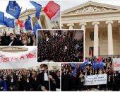 مظاهرات المحامين فى فرنسا احتجاجا على مشروع قانون قضائى