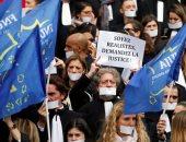 صور.. مظاهرات للمحامين الفرنسيين احتجاجا على مشروع قانون قضائى