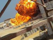 ارتفاع عدد مصابى حريق خط غاز العين السخنة لـ9..والنيابة تنتقل لموقع الحادث