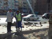 محافظ البحر الأحمر يتفقد أعمال التطوير بطريق النصر فى الغردقة