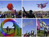 انطلاق مهرجان الطائرات الورقية فى واشنطن ابتهاجا بقدوم الربيع