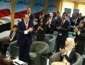 شاهد.. الرئيس السيسي بمقر حملته الانتخابية لحظة إعلان فوزه بولاية رئاسية ثانية