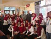 """رئيس جامعة الأزهر يفتتح معرض """"إبداع"""" بدراسات بنات الإسكندرية"""