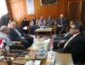 رئيس جامعة الأزهر يستقبل فريق مراجعة الجودة بدراسات بنات الإسكندرية