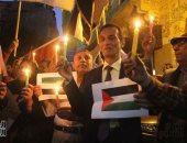 """صور.. حزب التجمع ينظم وقفة بالشموع تضامنا مع ضحايا فلسطين فى """"يوم الأرض"""""""