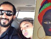 """أحمد حلمى يكشف عن موهبة ابنته """"لى لى"""" فى الرسم.. ومعلقون: بنت الوز عوامة"""