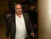 """صور.. بيومى فؤاد يلحق بنجوم """"نورت مصر"""" للاحتفال بالعرض الخاص بالتجمع الخامس"""