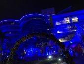 مستشفى 57357 تضاء باللون الأزرق تضامنا مع مرضى التوحد فى يومهم العالمى
