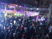 قارئ يشارك بصور لاحتفالات المصريين بفوز الرئيس السيسى بميدان دوران شبرا