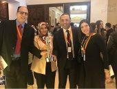 """شريهان أبو الحسن تنشر فيديو لحظة إعلان فوز """"اليوم السابع"""" بجائزة الصحافة العربية"""