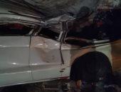 اصابة شخصين فى حادث تصادم بالطريق الصحراوى الشرقى ببنى سويف