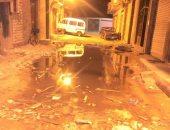غرق شارع 24 فى الفلكى بالإسكندرية فى مياه الصرف الصحى