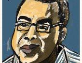 قارئة تشارك برسم كاريكاتورى للكاتب الراحل أحمد خالد توفيق