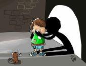 """حال الدنيا.. ظل اليتيم فى كاريكاتير """"اليوم السابع"""""""