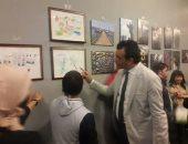 """صور.. أمين عام المجلس الأعلى للثقافة يفتتح معرض """"إشراقات فنية"""" بالهناجر"""