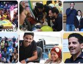 رامى جمال وحمدى المرغنى وسط أطفال 57357 فى يوم اليتيم