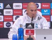 زيدان: كنا نستحق الفوز فى ديربى مدريد.. واستبدال رونالدو لإراحته