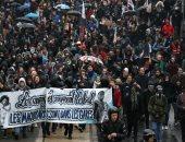 صور.. تجدد المظاهرات فى فرنسا ضد مشروع الإصلاح بالسكة الحديدية