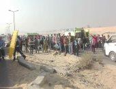 إصابة 18 شخصا فى حادث تصادم سيارتين بصحراوى أسوان