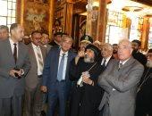صور ..وزير التموين ومحافظ جنوب سيناء يقدمون التهنئة للأقباط بعيد القيامة
