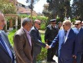 صور ..محافظ الإسماعيلية ورئيس هيئة قناة السويس يقدمان التهنئة للأقباط