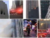 حريق ببرج ترامب بوسط مانهاتن فى نيويورك