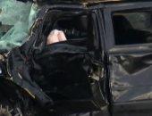 شقيق محمد رمضان يتعرض لحادث على طريق مصر إسكندرية الصحراوى