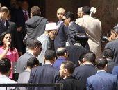 شيخ الأزهر من الكاتدرائية: تجمعنا رسالة وتحد مشترك ونحن مواطنون بدرجة واحدة.. صور