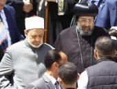 شيخ الأزهر من الكاتدرائية: الشعب اختار الرئيس السيسى لما لمسه من مبشرات - صور