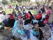 الألعاب الترفيهية والطفطف تجذب زوار حديقة الفسطاط فى أول أيام العيد