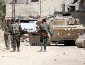 الجيش السورى يعثر على مدرعات وعربات لمسلحين بريف حماة الشمالي