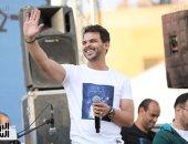 محمد رشاد يحيي حفل افتتاح البطولة الإفريقية للجمباز