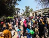 صور.. حديقة الحيوان تشهد إقبالا كبيرا فى ثالث أيام عيد الفطر المبارك